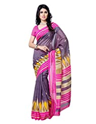 101cart Multi Color Art Silk Party Wear Saree - B00RHS9PMC