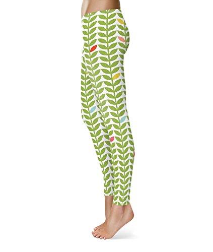 Queen of Cases Sixties Mod Flowers Fleece Leggings - 2XL XS-3XL