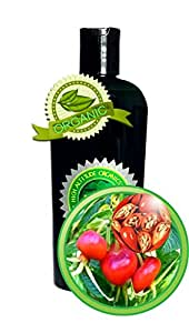 Rosehip Seed Oil - 4oz - 100% PURE & Organic, Undiluted, Cold-pressed, Unrefined, Virgin - Rich source of vitamins, flavonoids, tannins, carotenoids and volatile oil and more - by High Altitude Organics