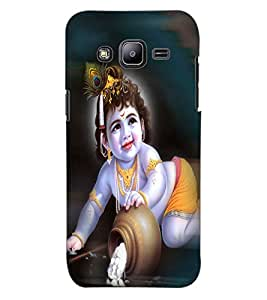 ColourCraft Lord Krishna Design Back Case Cover for SAMSUNG GALAXY J2 J200G