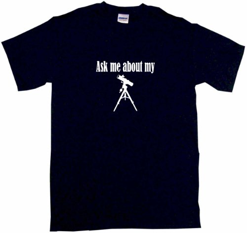 Ask Me About My Telescope Logo Men'S Tee Shirt 2Xl-Black