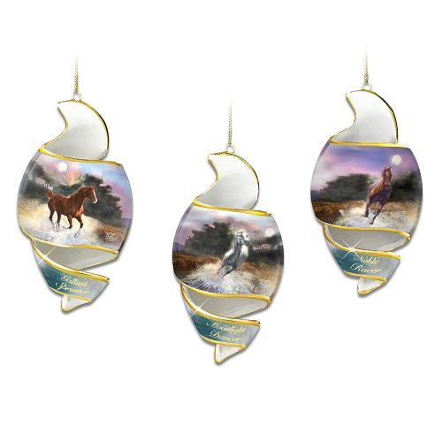 Free As The Wind Horse Art Heirloom Porcelain Ornament Set: Set One by The Bradford Editions