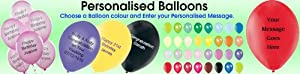 100 Personalised Balloon CHESTNUTBROWN colour 11 Inch qualtex