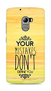 AMEZ your mistakes dont define you Back Cover For Lenovo K4 Note