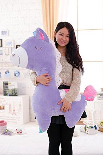 [Horse Stuffed Plush Pillow Animal Doll Soft Bolster Kids Toy Giant 39