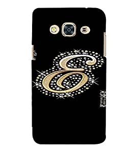 PrintVisa E Letter Bling Design 3D Hard Polycarbonate Designer Back Case Cover for SAMSUNG GALAXY J3 PRO