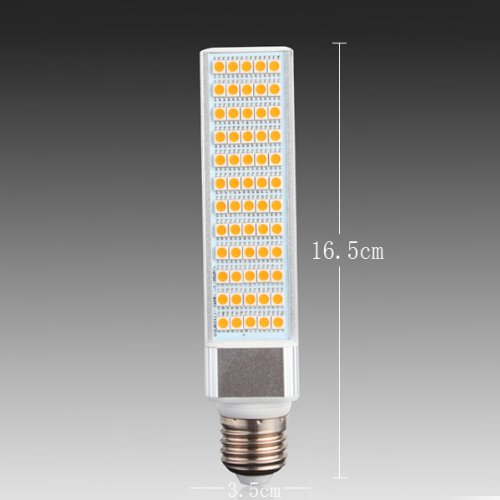Yaho-Mall E27 5050 Smd 60Led Energy Saving High Power Lamp Bulb Ac 85V-265V/Warm White-12W