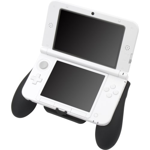 new nintendo 3ds ll xl cyber grip rubber coating black for