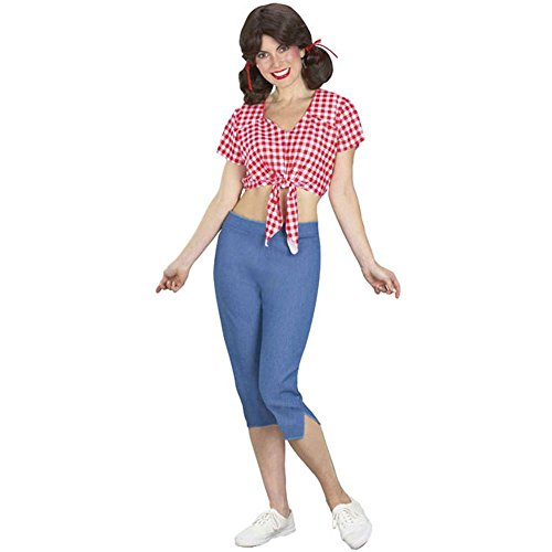 Adult Mary Ann Costume (Size: Standard 8-12)