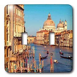 Vacation Spots - Venice Italy - Light Switch Covers - double toggle switch