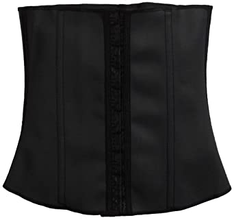 "Squeem ""Perfect Waist"" Firm Compression Waist Cincher Shapewear, Cotton & Rubber, Black, Small"