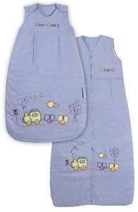Slumbersac - Saco de dormir para bebé con diseño de tren (todo el año, 2,5 tog, tallas de 0-3 años), color azul por Slumbersac