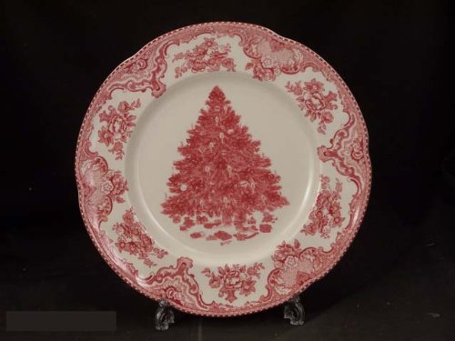 Johnson Bros. Old Britain Castles Pink Xmas Pt Dinner Plates