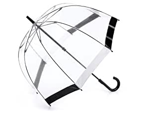 Fulton Birdcage 1 Umbrella Black & White Trim