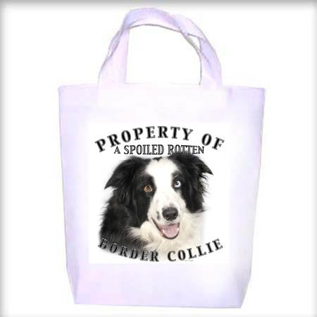 Border Collie Property Shopping - Dog Toy - Tote Bag