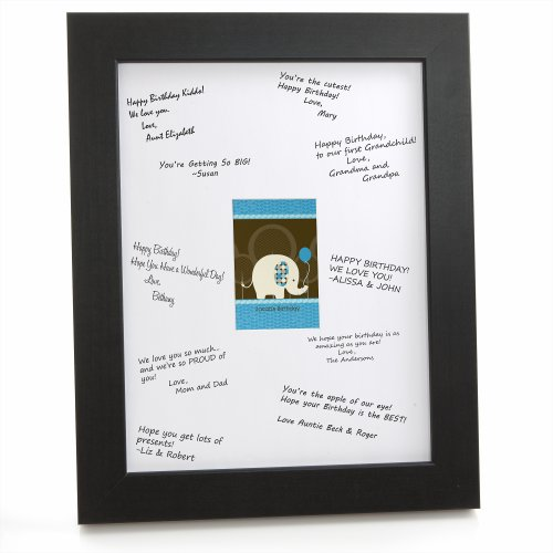 Blue Elephant - Framed Print With Signature Mat front-145068