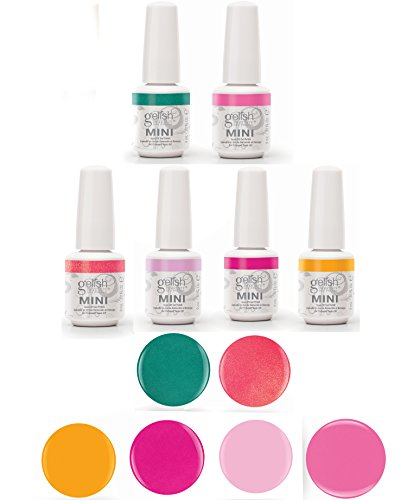 Gelish Neon Street Beat Gel Polish Collection - Includes All 6 Color Bottles (Mini Gelish Nail Polish Colors compare prices)