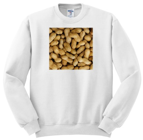 Unshelled Peanuts, Pattern, Nutrition - Li11 Bja0002 - Jaynes Gallery - Adult Sweatshirt Xl