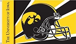 Iowa Hawkeyes 3 Ft. X 5 Ft. Flag W/Grommetts - Helmet Design - NCAA