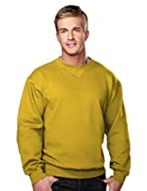 Tri-mountain Cotton/poly sueded finish crewneck sweatshirt. 680 - YELLOW GOLD_XL