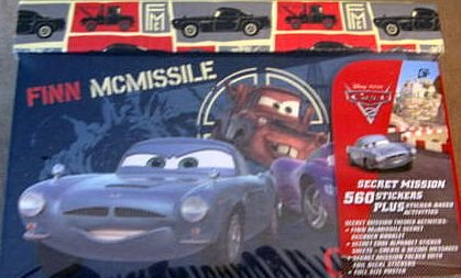 Disney Cars Secret Mission 560 Stickers Activities Incl: Gift Box Set - 1