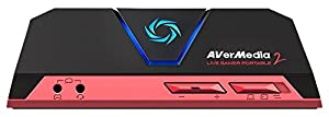 AVerMedia Live Gamer Portable 2, Full HD 1080p60 Recording Without PC Directly to SD Card, Ultra Low Latency, H.264 Hardware Encoding, USB 2.0, High Definition Game Capture, Record, Stream, Plug & Play, Party Chat, XBOX, Playstation (GC510)