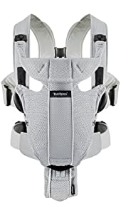 BABYBJORN Baby Carrier Miracle, Silver, Mesh
