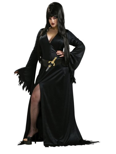 Sexy Elvira Costume Plus Size Theatre Costumes Goth Gothic Black Dress