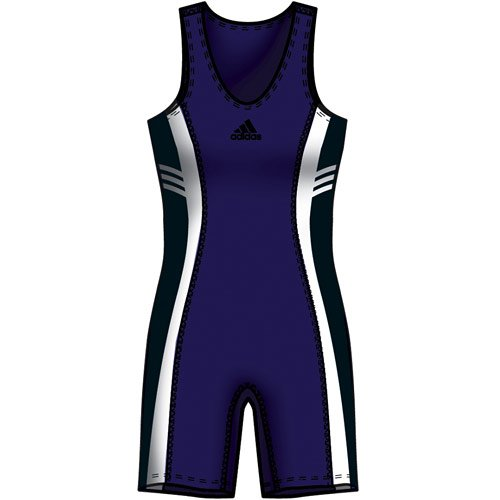 Hc Adidas Response Wrestling Singlet; Black, Youth Small (8) front-1054541