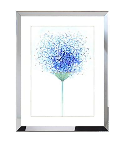 Art Source Watercolor Blue Floral Bouquet Print II, Multi