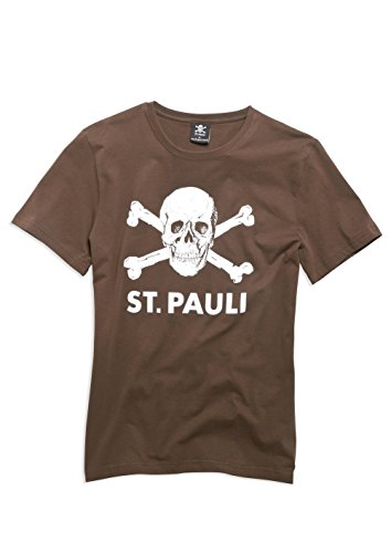 FC St. Pauli teschio I-Maglietta, marrone
