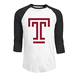 Temple University Men's Loose Fit Half Sleeve Tshirts