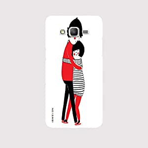 iSweven Luxurious Printed high Quality Hug Design Back case cover for Samsung Galaxy J3 (2016) j31186