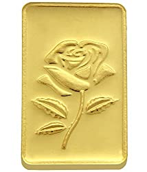 TBZ-The Original 15 gm, 24k(999) Yellow Gold Rose Precious Coin