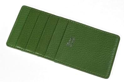 牛革製 カード8枚収納 ウォレットイン薄型カードケース (グリーン)03043394