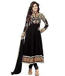 Royal N rich black Anarkali embroidered salwar suit (rnr80)