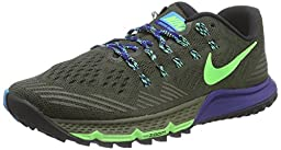 Nike Men\'s Air Zoom Terra Kiger 3 Running Shoes-Cargo Khaki/Voltage Green-10