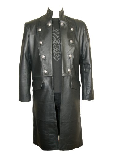 Military Gothic Leather Jacket - XXXL