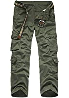 HAHOME Men's Workwear 025 Style Cargo Combat Long Pants(28 29 30 31 32 33 34 36 38) without belt