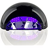 Uthcracy 12W LED Light Lamp Nail Dryer For Curing LED Gel & Gelish Nail Polish, With Timer Setting, Power Cord...