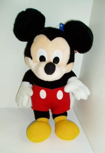 "Large Disney Red Pants Mickey Mouse Plush 13"" - 1"