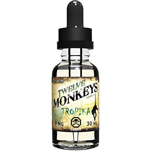 twelve-monkeys-tropika-30ml-e-liquid-zero-nicotine-perfect-balance-of-exotic-tropical-fruits-3vg-pg-