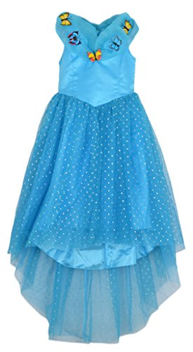 Eyekepper Cinderella Dress Blue Ella's Princess Butterfly Girl Costume