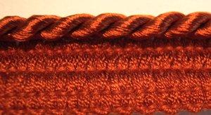 12 Yd Wrights Washable Narrow Lip Cording 958 Burnt Orange