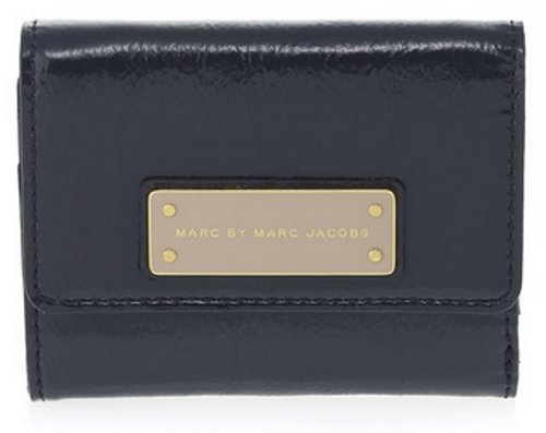 Marc By Marc Jacobs Marc Jacobs Too Hot To Handle Patent Billfold Wallet in Bright Navy Multi