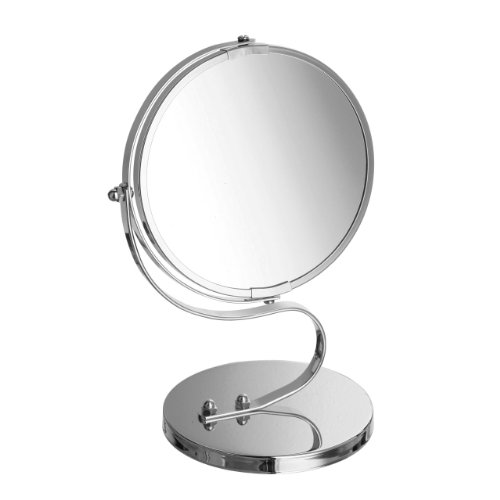 Swivel Mirror On Stand Chrome Frame & Magnifying Option