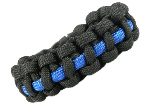 Paracord Survival Bracelet - Thin Blue Line