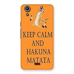 Cute HKN MTT Orange Back Case Cover for Micromax Canvas Selfie Lens Q345