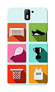 CimaCase Abstract Sports Designer 3D Printed Case Cover For OnePlus One