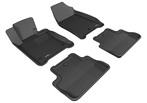 3D MAXpider Complete Set Custom Fit All-Weather Floor Mat for Select Honda Odyssey EX Models Kagu Rubber Gray